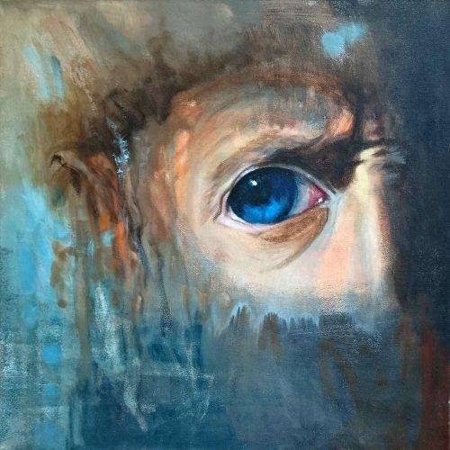 Hommage à Rembrandt | 40x 40 | Acryl auf Leinwand / Acrylique sur toile