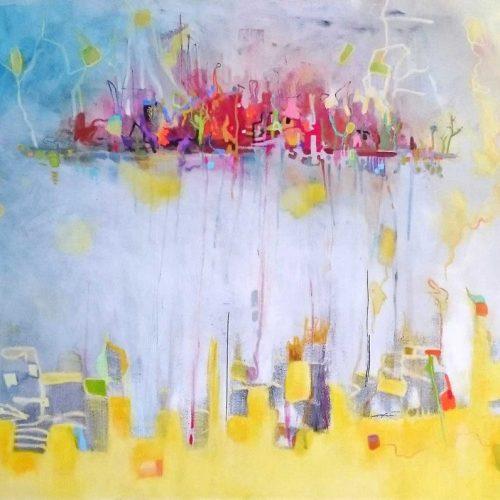 Insel der Träume | 100 x 100 | Acryl auf Leinwand / Acrylique sur toile