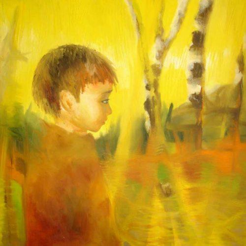 Kindergedanken? / Pensées enfantines? | 100 x 80 | Acryl auf Leinwand / Acrylique sur toile