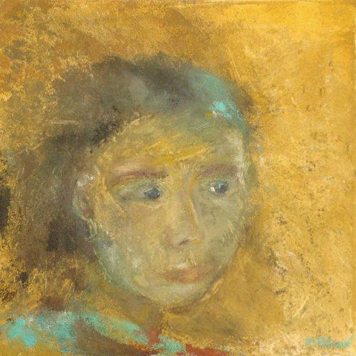 Mädchenportrait / Portrait de jeune fille | 40 x 40 | Mischtechnik auf Leinwand / Technique mixte sur toile