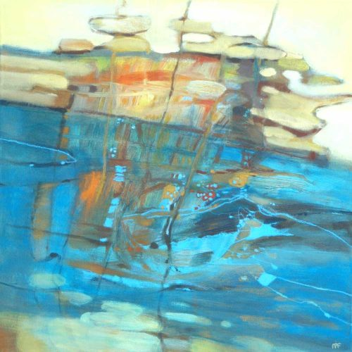 Spiegelung / Reflet | 60 x 60 | Acryl auf Leinwand / Acrylique sur toile