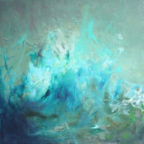 Der Sturm / La tempête | 100 x 100 | Acryl auf Leinwand / Acrylique sur toile