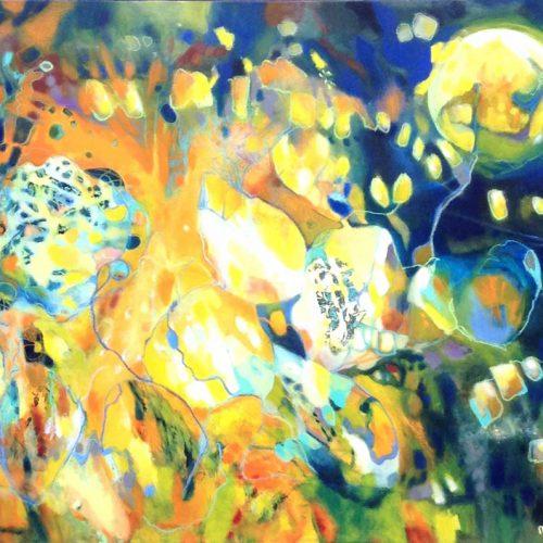 Herbstlichter / Lumières d'automne | 100 x 80 | Mischtechnik auf Leinwand / Technique mixte sur toile