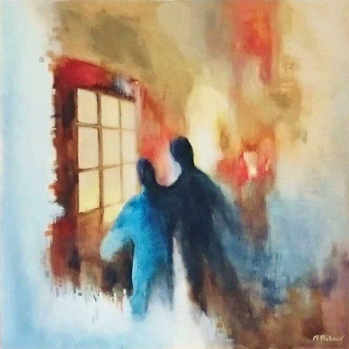 Das Fenster / La fenêtre | 60 x 60 | Acryl auf Leinwand / Acrylique sur toile