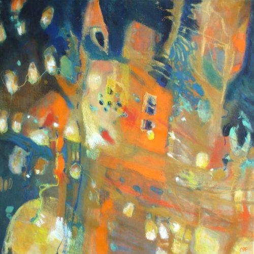Nachttraum / Rêve nocturne | 50 x 50 | Mischtechnik auf Leinwand / Technique mixte sur toile
