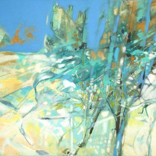 Klirrende Landschaft / Paysage glacé | 80 x 60 | Mischtechnik auf Leinwand / Technique mixte sur toile