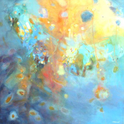 Zwischen Himmel und Wasser / Entre le ciel et l'eau | 80 x 80 | Mischtechnik auf Leinwand / Technique mixte sur toile