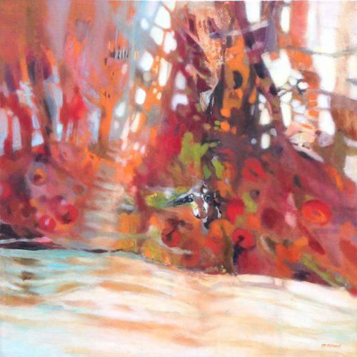 Das Versteck / La cachette | 80 x 80 cm | Acryl auf Leinwand / Acrylique sur toile