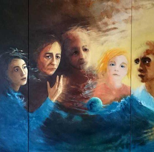 O.T. / Sans titre | Triptychon / Triptyque | 3 x 120 x 80 | Acryl auf Leinwand / Acrylique sur toile