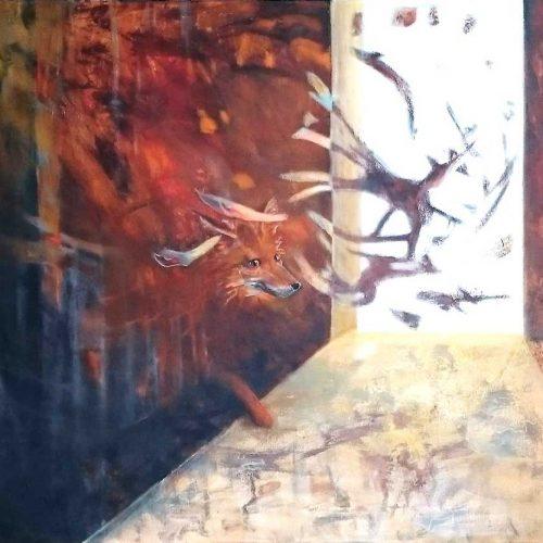 Die Füchsin / La renarde | 120 x 100 | Acryl auf Leinwand / Acrylique sur toile
