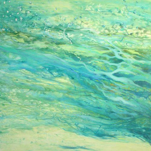 Am Wasserrand / Au bord de l'eau | 100 x 100 | Acryl auf Leinwand / Acrylique sur toile