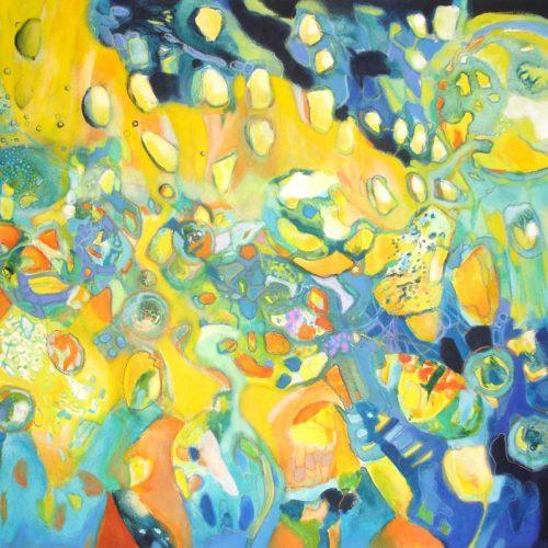 Gedankenwelt / Le monde des pensées | 100 x 80 | Acryl auf Leinwand / Acrylique sur toile