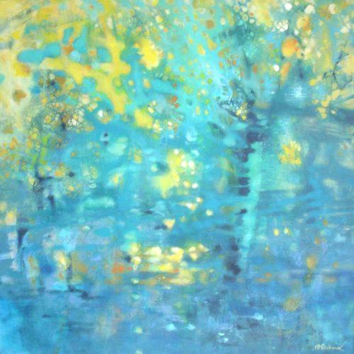 Spiegelung / Reflet | 80 x 80 | Acryl auf Leinwand / Acrylique sur toile
