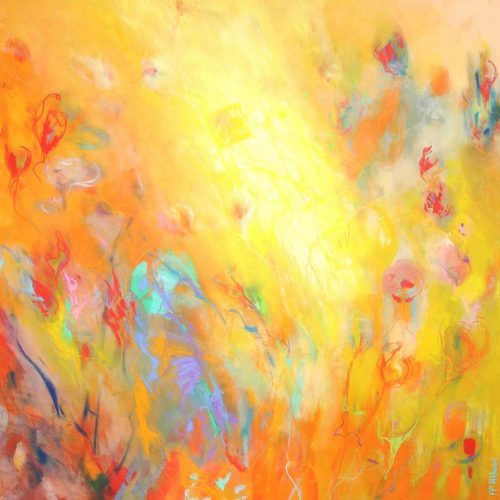 Freude / Joie | 100 x 100 cm | Mischtechnik auf Leinwand / Technique mixte sur toile