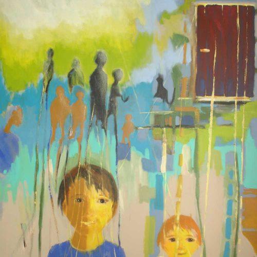 Generationen / Générations | 120 x 100 | Acryl auf Leinwand / Acrylique sur toile