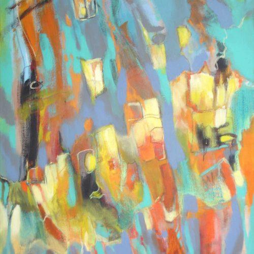 Farbspiel / Jeu de couleurs | 60 x 80 | Acryl auf Leinwand / Acrylique sur toile