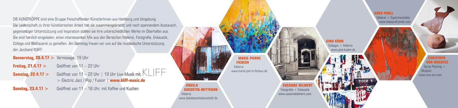 Die Kunstkoeppe-Ausstellung 2017 mit marie-Pierre Ficheux